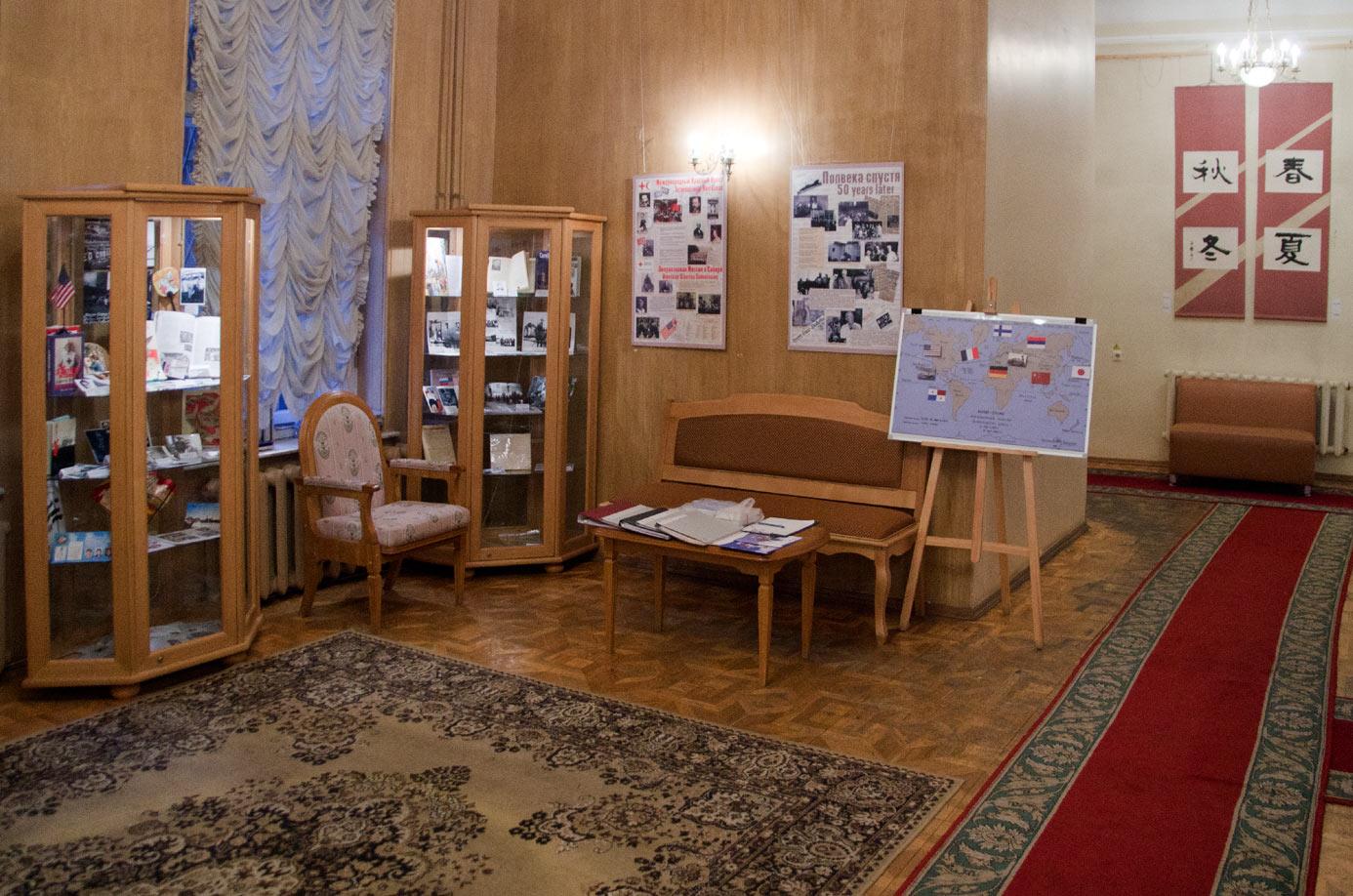 Открытие выставки «НАД НАМИ КРАСНЫЙ КРЕСТ» 25 февраля 2015 года.